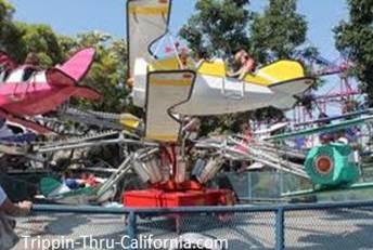 Barnstormer Planes ride at Adventure City
