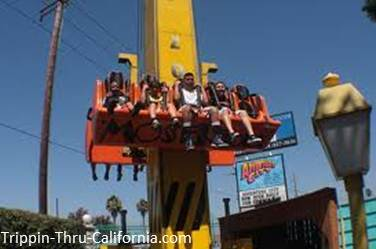 Drop Zone ride at Adventure City