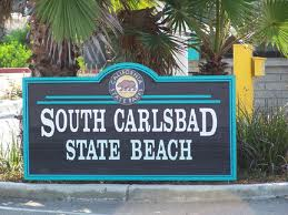 South Carlsbad State Beach Sign..