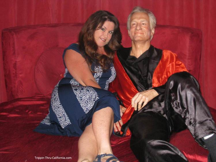 Hugh Hefner at the Hollywood Wax Museum