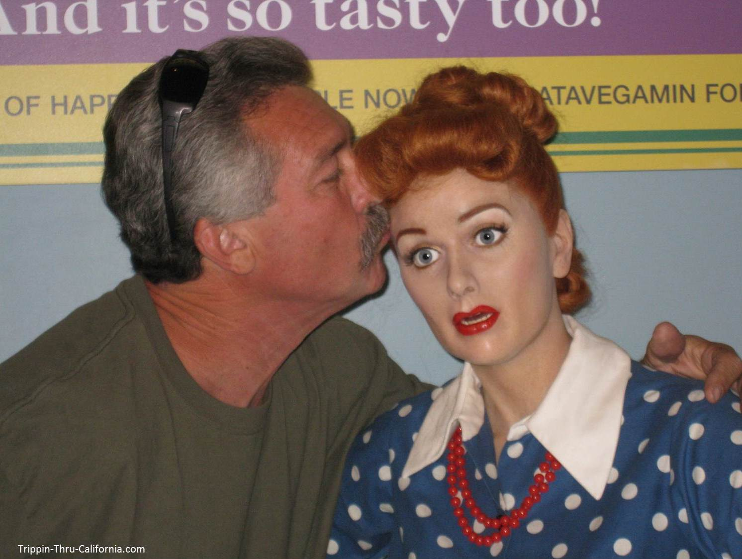 Lucielle Ball at the Hollywood Wax Museum