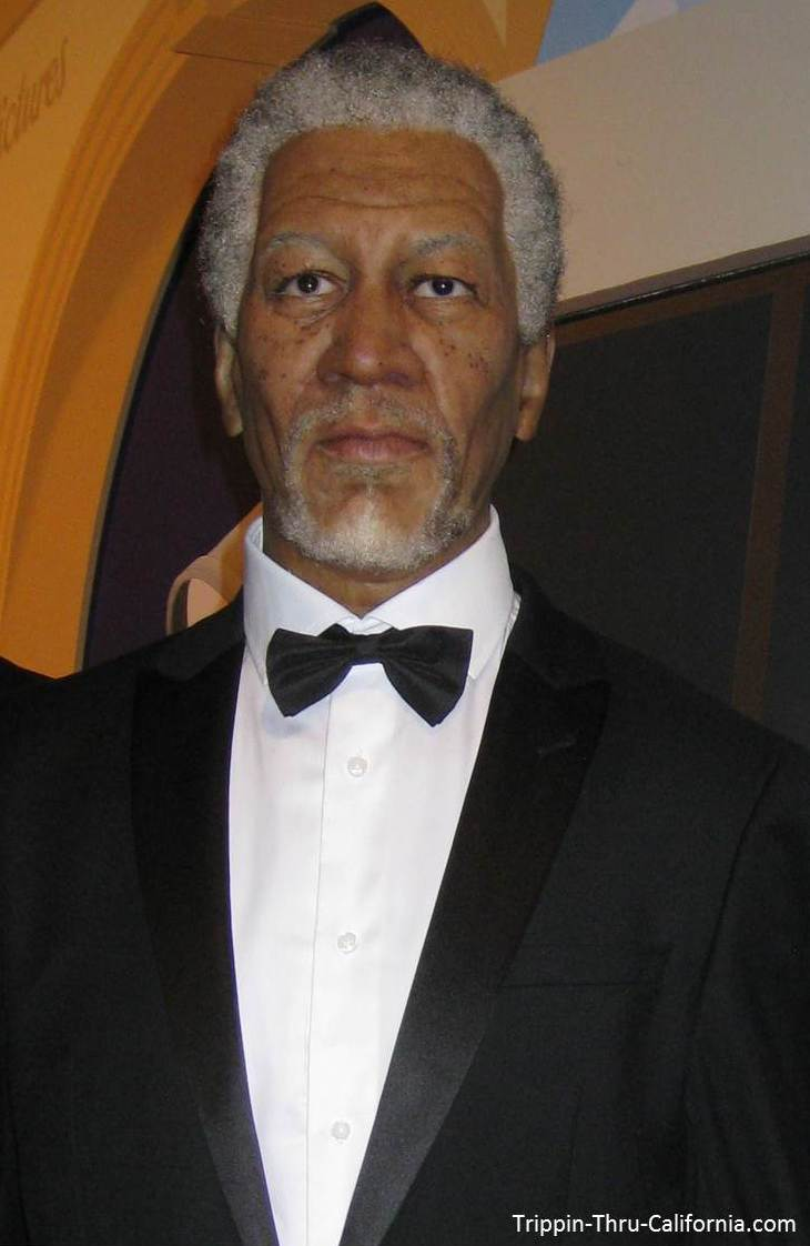 Morgan Freeman at the hollywood Wax Museum