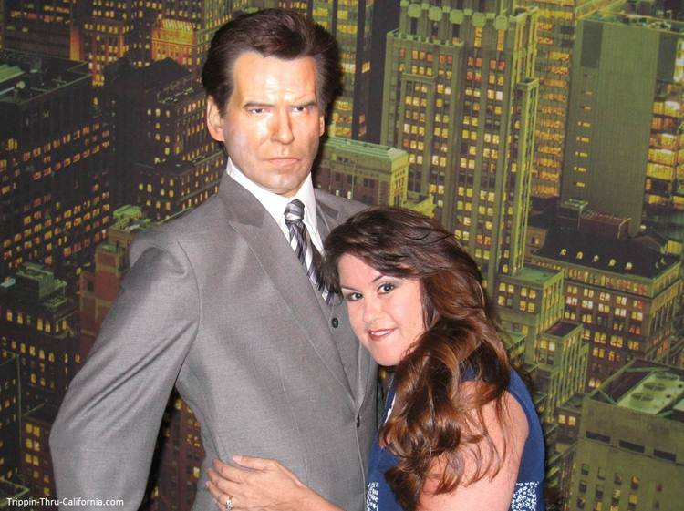 Pierce Brosnan at the Hollywood Wax Museum