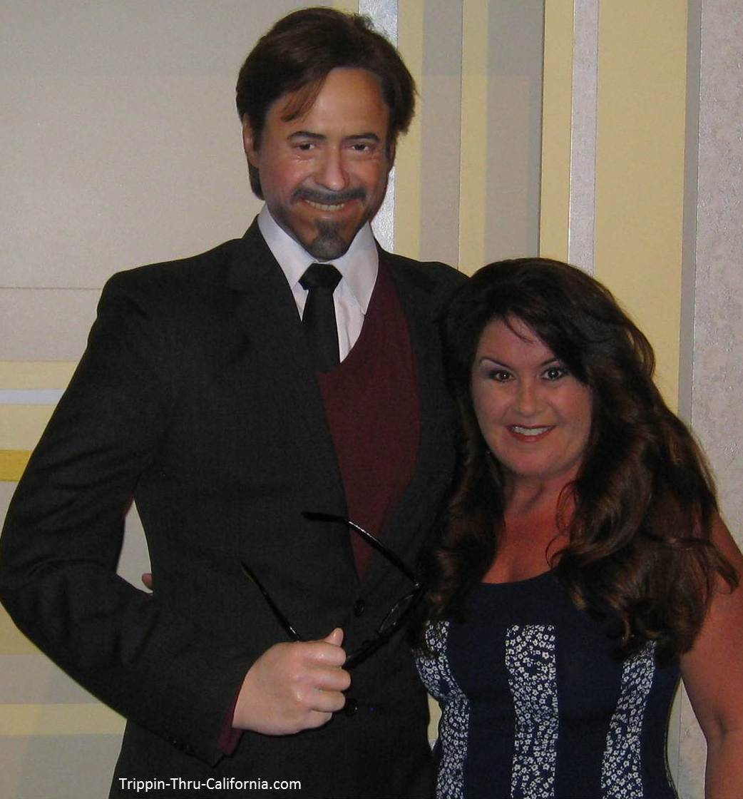 Robert Downey Jr.at the Angelina Jolie at the Hollywood Wax Museum