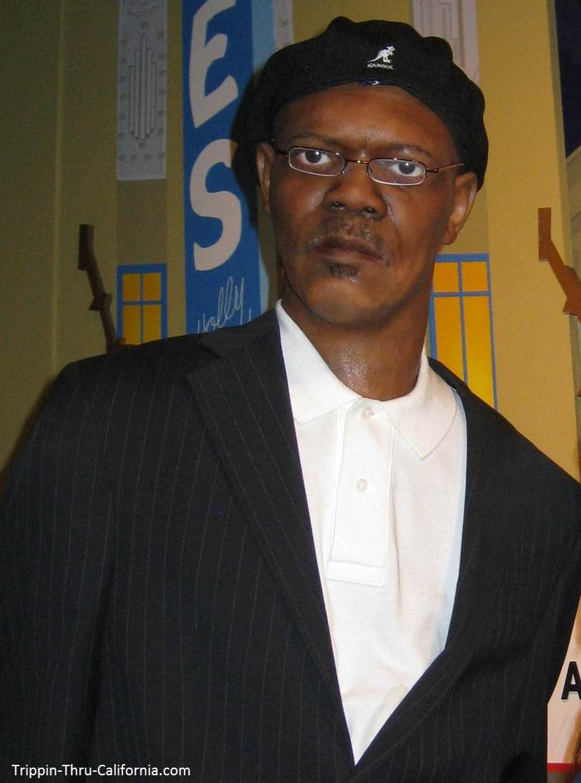 Samuel L Jackson at the Hollywood Wax Museum
