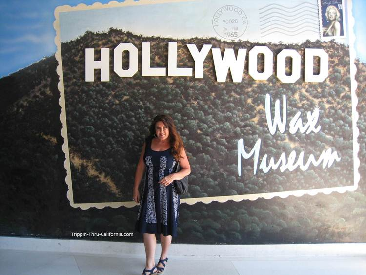 Hollywood Wax Museum Sign just inside the building