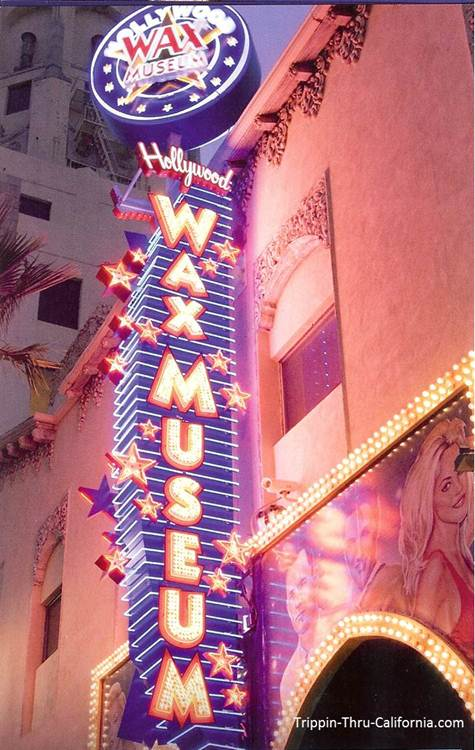 Hollywood Wax Museum sign..