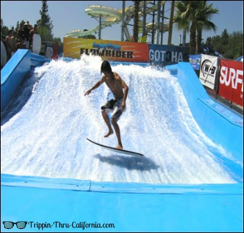 Surfing at Raging Waters..