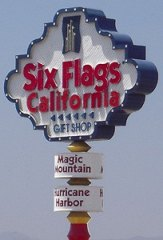 Six Flags Magic Mountain California Sign