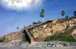 South Carlsbad State Beach Stairs..