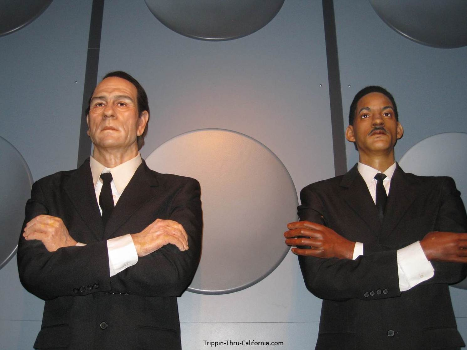 Men in Black at the Hollywood Wax Museum